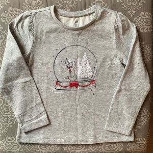 NWT Baby Gap Snow globe Fox TShirt, Size 5T